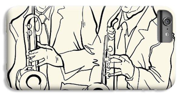 Saxophone iPhone 8 Plus Case - Musicans Of Jazz. Vector Illustration by Ekaterina Kolchenko