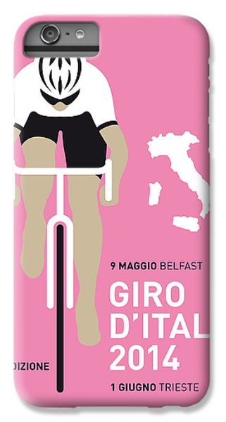 Bicycle iPhone 8 Plus Case - My Giro D Italia Minimal Poster 2014 by Chungkong Art