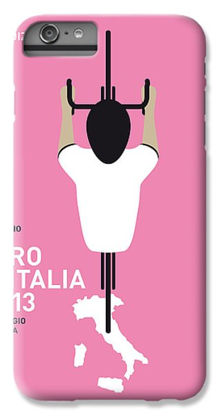 Bicycle iPhone 8 Plus Case - My Giro D'italia Minimal Poster by Chungkong Art