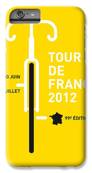 Bicycle iPhone 8 Plus Case - My Tour De France 2012 Minimal Poster by Chungkong Art