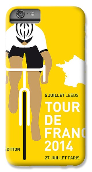 Bicycle iPhone 8 Plus Case - My Tour De France Minimal Poster 2014 by Chungkong Art