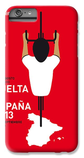Bicycle iPhone 8 Plus Case - My Vuelta A Espana Minimal Poster - 2013 by Chungkong Art