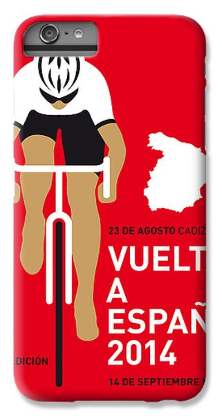 Bicycle iPhone 8 Plus Case - My Vuelta A Espana Minimal Poster 2014 by Chungkong Art