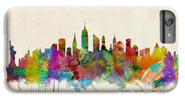 City Scenes iPhone 8 Plus Case - New York City Skyline by Michael Tompsett