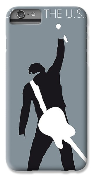 Musicians iPhone 8 Plus Case - No017 My Bruce Springsteen Minimal Music Poster by Chungkong Art