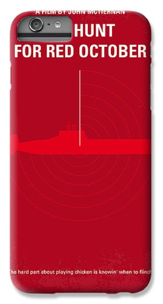 Red iPhone 8 Plus Case - No198 My The Hunt For Red October Minimal Movie Poster by Chungkong Art