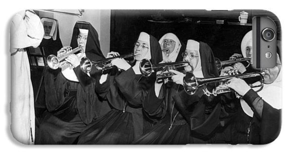 Trombone iPhone 8 Plus Case - Nuns Rehearse For Concert by Underwood Archives