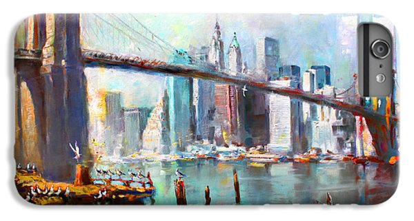 City Scenes iPhone 8 Plus Case - Ny City Brooklyn Bridge II by Ylli Haruni