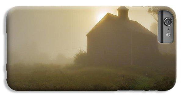 New England Barn iPhone 8 Plus Case - Old Barn Foggy Morning by Edward Fielding