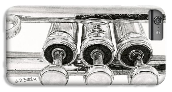 Trumpet iPhone 8 Plus Case - Old Trumpet Valves by Sarah Batalka