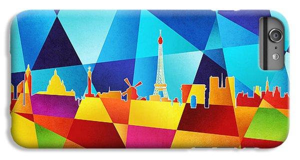 Contemporary iPhone 8 Plus Case - Paris France Skyline by Michael Tompsett