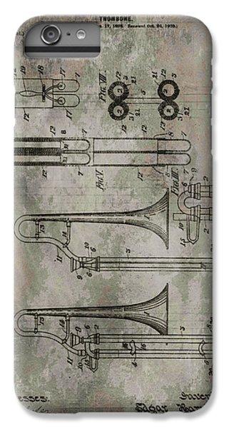 Trombone iPhone 8 Plus Case - Patent Art Trombone by Dan Sproul