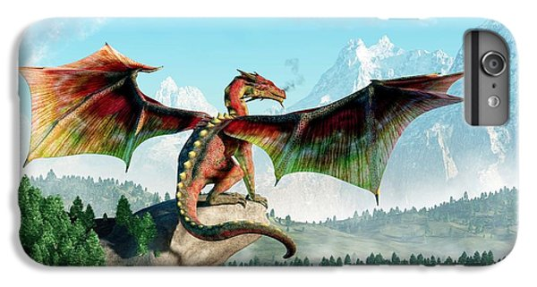 Dungeon iPhone 8 Plus Case - Perched Dragon by Daniel Eskridge