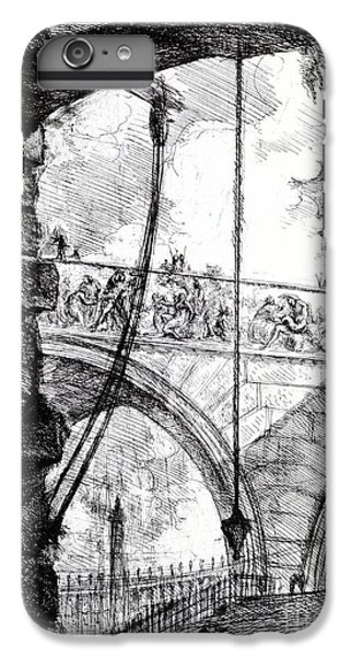 Dungeon iPhone 8 Plus Case - Plate 4 From The Carceri Series by Giovanni Battista Piranesi