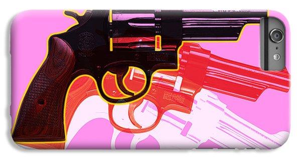 Red iPhone 8 Plus Case - Pop Handgun by Gary Grayson