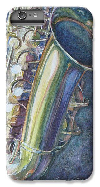 Saxophone iPhone 8 Plus Case - Portrait Of A Sax by Jenny Armitage