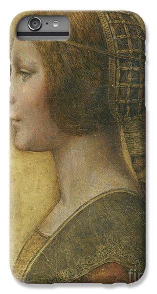 Portraits iPhone 8 Plus Case - Profile Of A Young Fiancee by Leonardo Da Vinci