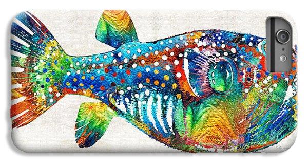 Scuba Diving iPhone 8 Plus Case - Puffer Fish Art - Blow Puff - By Sharon Cummings by Sharon Cummings