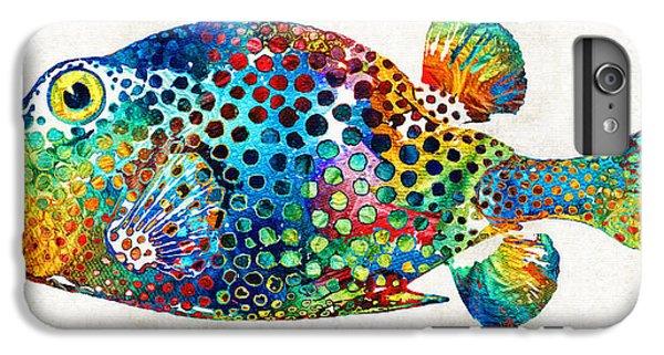 Scuba Diving iPhone 8 Plus Case - Puffer Fish Art - Puff Love - By Sharon Cummings by Sharon Cummings