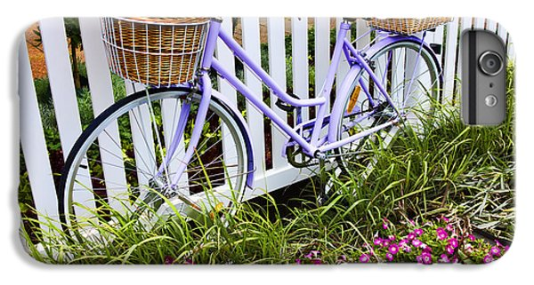 Bicycle iPhone 8 Plus Case - Purple Bicycle And Flowers by David Smith
