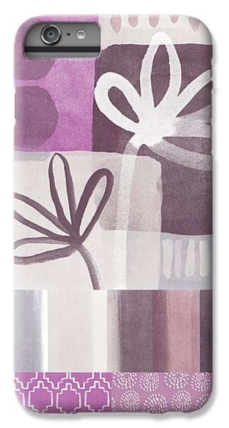Orchid iPhone 8 Plus Case - Purple Patchwork- Contemporary Art by Linda Woods