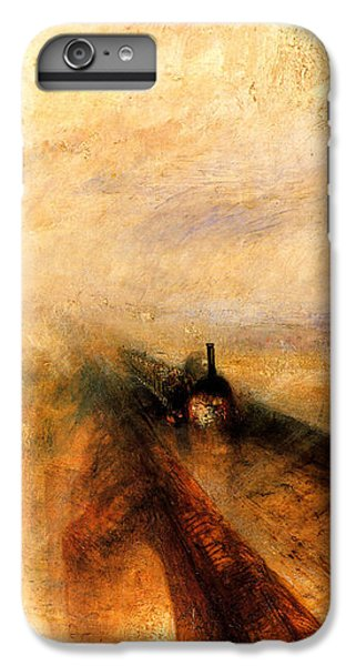 Train iPhone 8 Plus Case - Rain Steam And Speed.  by J M W Turner