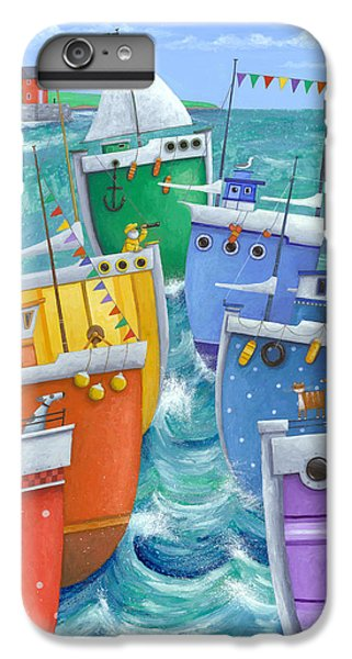 Boat iPhone 8 Plus Case - Rainbow Flotilla by Peter Adderley