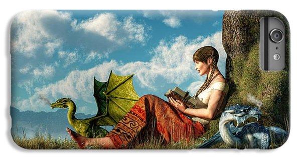 Dungeon iPhone 8 Plus Case - Reading About Dragons by Daniel Eskridge