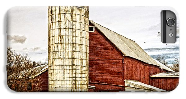 New England Barn iPhone 8 Plus Case - Red Barn And Silo Vermont by Edward Fielding