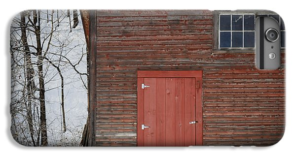 New England Barn iPhone 8 Plus Case - Red Door Red Barn by Edward Fielding