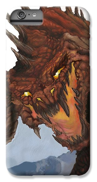 Dungeon iPhone 8 Plus Case - Red Dragon by Matt Kedzierski