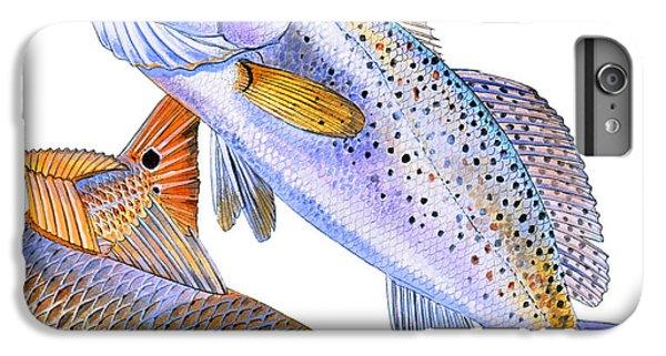 Drum iPhone 8 Plus Case - Redfish Trout by Carey Chen