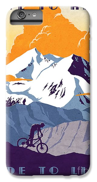 Cross iPhone 8 Plus Case - retro cycling poster Live to Ride Ride to Live  by Sassan Filsoof