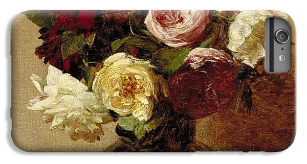 Rose iPhone 8 Plus Case - Roses by Ignace Henri Jean Fantin-Latour