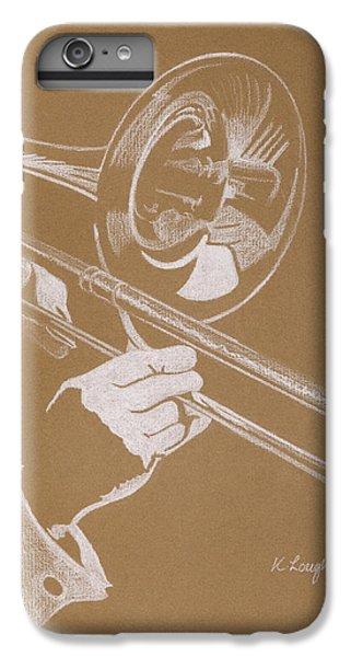 Trombone iPhone 8 Plus Case - Sacred Trombone by Karen  Loughridge KLArt