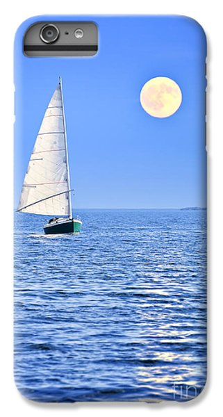 Boat iPhone 8 Plus Case - Sailboat At Full Moon by Elena Elisseeva