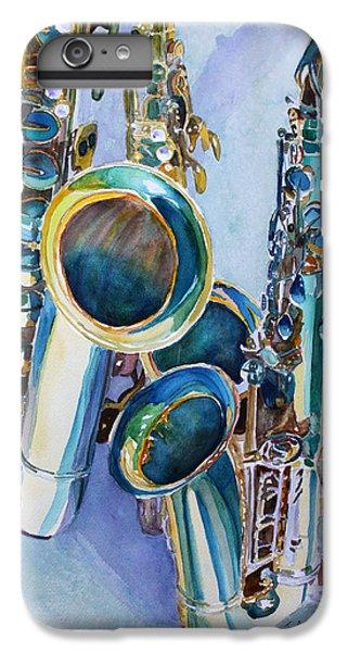 Saxophone iPhone 8 Plus Case - Saxy Trio by Jenny Armitage
