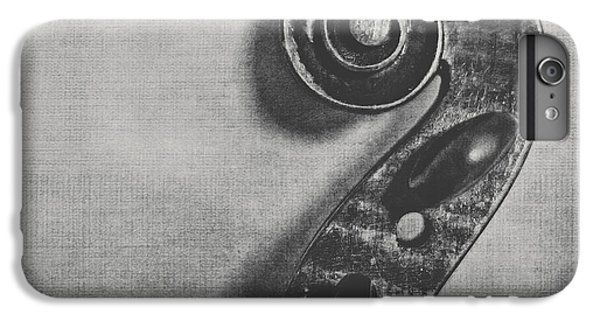 Violin iPhone 8 Plus Case - Scroll In Black And White by Emily Kay