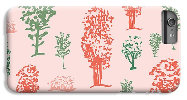 Shrub iPhone 8 Plus Case - Seamless Tree Pattern, Deciduous Trees by Zzorna