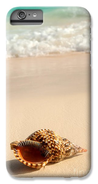 Sand iPhone 8 Plus Case - Seashell And Ocean Wave by Elena Elisseeva