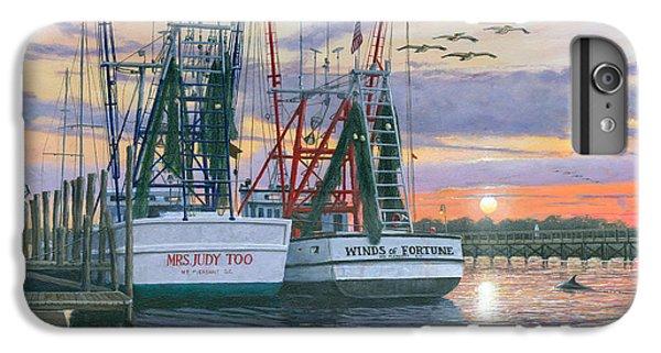 Shrimp Boats iPhone 8 Plus Case - Shem Creek Shrimpers Charleston  by Richard Harpum