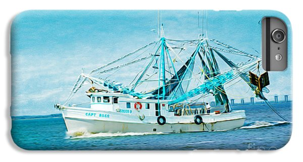 Shrimp Boats iPhone 8 Plus Case - Shrimp Trawler by Laura D Young