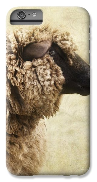 Sheep iPhone 8 Plus Case - Side Face Of A Sheep by Priska Wettstein