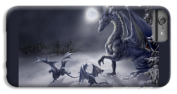 Dragon iPhone 8 Plus Case - Snow Day by Rob Carlos