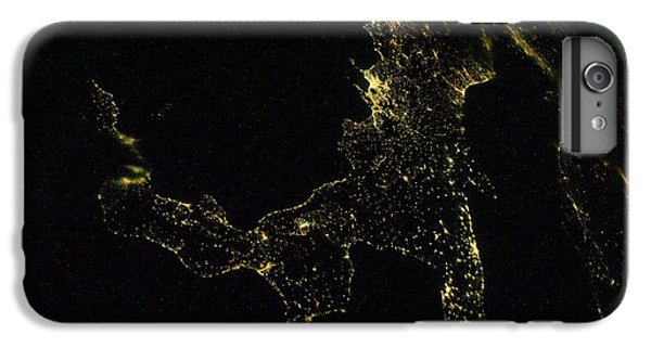 International Space Station iPhone 8 Plus Case - Southern Italy At Night From Space by Nasa/science Photo Library