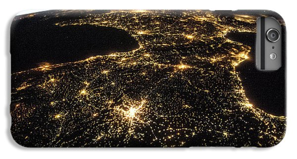 International Space Station iPhone 8 Plus Case - Space And France At Night by Nasa