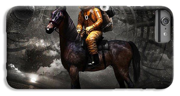 Horse iPhone 8 Plus Case - Space Tourist by Vitaliy Gladkiy