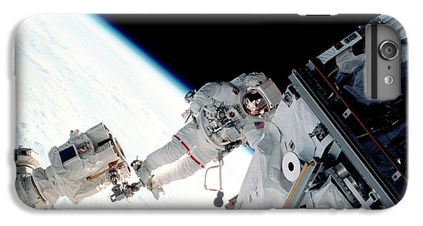International Space Station iPhone 8 Plus Case - Space Walk On The Iss by Nasa/science Photo Library