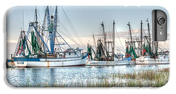 Shrimp Boats iPhone 8 Plus Case - St. Helena Island Shrimp Boats by Scott Hansen
