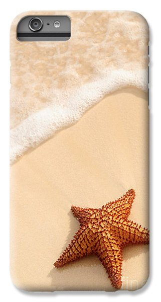 Sand iPhone 8 Plus Case - Starfish And Ocean Wave by Elena Elisseeva